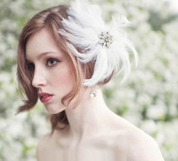 新潮短发新娘发型 2016年短发新娘发型图片
