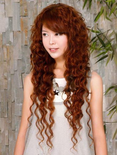 斜刘海螺旋小卷烫发发型-现在流行的小卷如何烫的 2016新潮小卷烫发