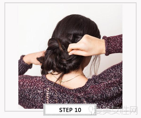 教你用图片轻松齐肩a图片发夹_图片女士发型中卷搞定发尾盘发图片