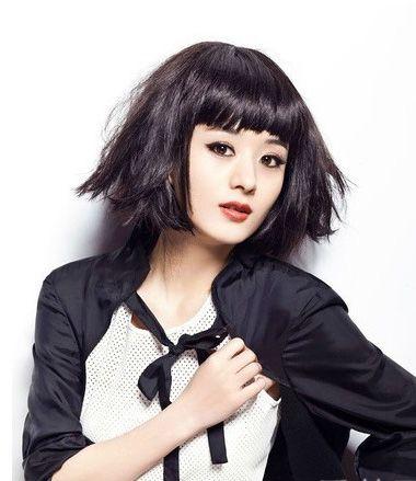 韩国齐刘海短发烫发发型 2016甜美齐刘海短发发型(2)