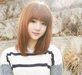 齐刘海直发符合染什么颜色 齐刘海直发染色发型图片图片