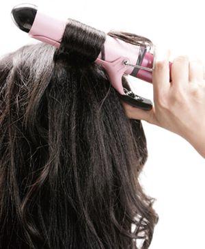 电卷发棒卷头发图解 自己做卷头发步骤(2)