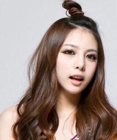 韩版无刘海烫发发型 日系刘海发型