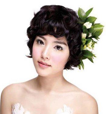 2016短发新娘发型图片 新娘发型短发(3)