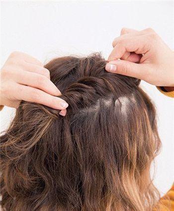 短发如何扎显脸小 短发的扎法能看起来脸小的_发型图片