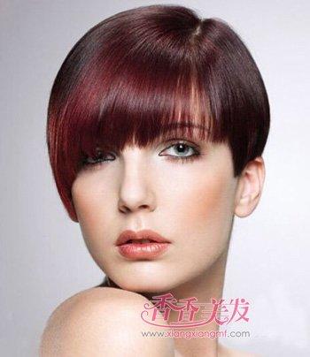 一边长一边短无刘海沙宣发型 女士偏分沙宣短发发型(3