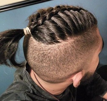 男士辫子如何编 男人辫子的编法大全有图(2)_发型图片