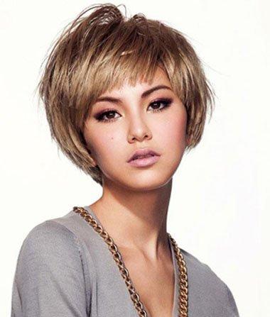 沙宣短发斜剪发型图片 沙宣短发如何保持发型用什么图片