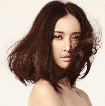 中分直发内扣发型 直发齐发尾内扣发型(4)图片