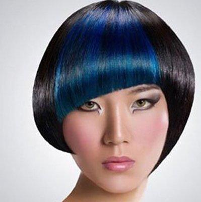 沙宣短发斜刘海发型设计