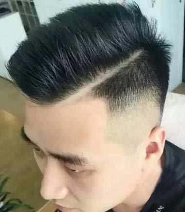 男人两侧短上边头发往后梳 男人头发短发造型_发型图片图片