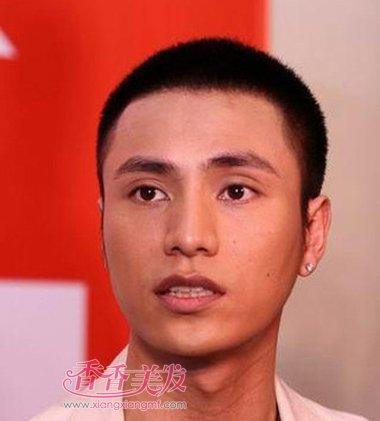 大脸男士短寸头无刘海发型设计
