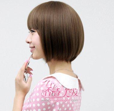 学生沙宣短发有刘海发型设计图片