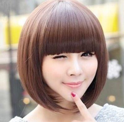 学生圆脸女人bobo头图片 圆脸符合的短发bobo头(2)图片