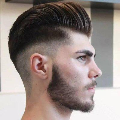 短直发向后梳发型设计图片