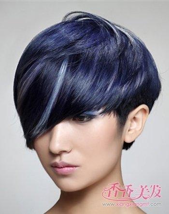 沙宣后脑勺呈现心形的超短发发型 女人沙宣超短 新潮发型(2)图片