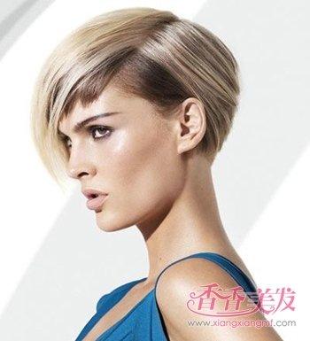 沙宣后脑勺呈现心形的超短发发型 女人沙宣超短 新潮发型(4)图片