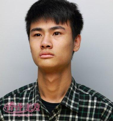 初中生斜刘海毛寸短发发型图片