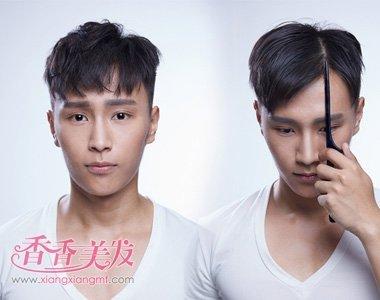2017新发型男生帅 新发型 短发 三七分发型男生短发图片