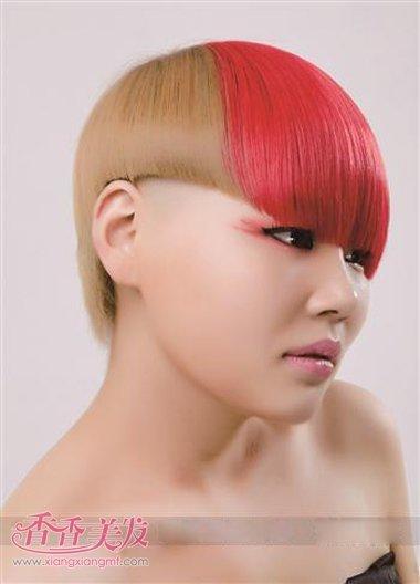 沙宣头短发黄色型图片 沙宣个性另类短发_发型图片图片