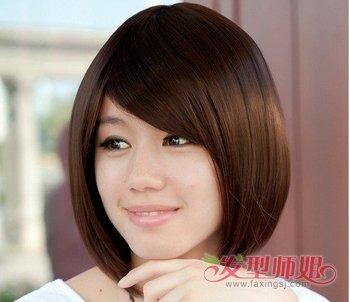 适合长脸的bobo发型 长脸时尚短发bobo头发型图片