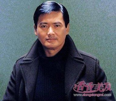 中国男明星短直发中偏分斜刘海发型设计图片