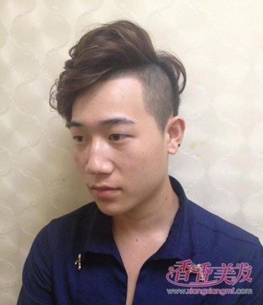 蓬松烫发的发型朋克男人发型斜朋克男人剪发头发少适合竖起么图片