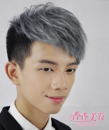 男人银灰色前梳染图片女生发型刘海编发大全短发2015款图片