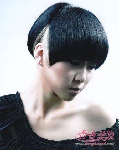 齐刘海沙宣包头短发发型