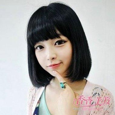 女人短发发型,何止千万万万,梳好看发型,已经有的空气刘海齐肩短直发