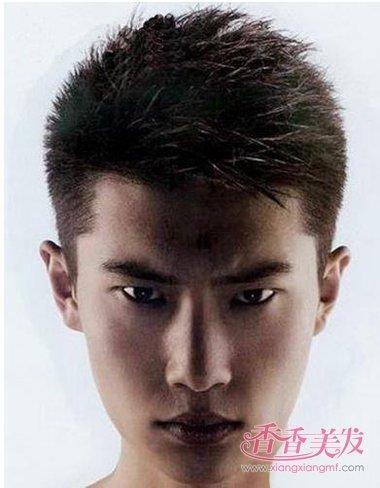 男人短发毛寸无刘海造型设计