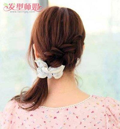 如何编头发简洁好看的马尾辫 简洁马尾编辫子发型(5)