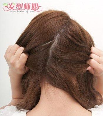 学生平刘海头长发盘发 平刘海盘发发型步骤