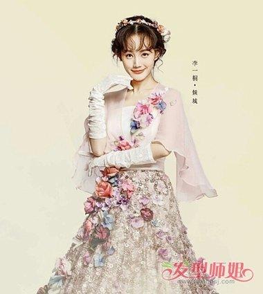 美发造型 盘发发型  李一桐是半妖倾城中的女主角,在第二季的造型中图片