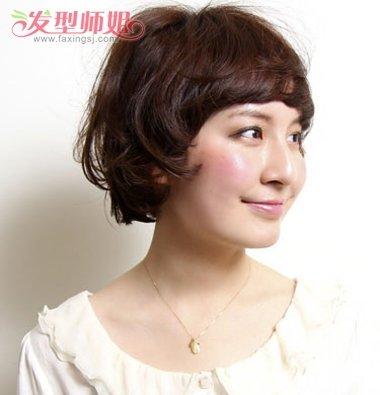 短发怎么弄梨花头 适合学生的短发梨花烫图片
