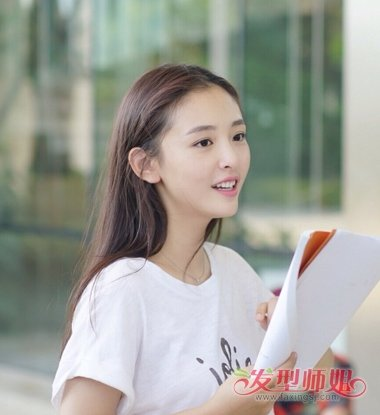 清秀的吴倩像学生 减龄发型长发最软萌_发型图片