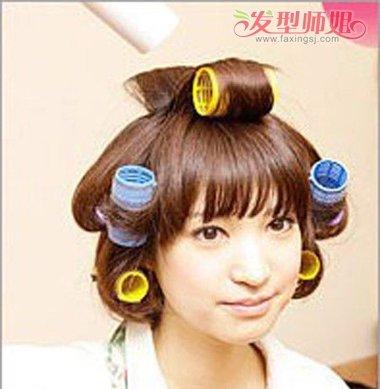 发量少的短发烫女人发型不难看自己多怎么梨花黑弄头发图片
