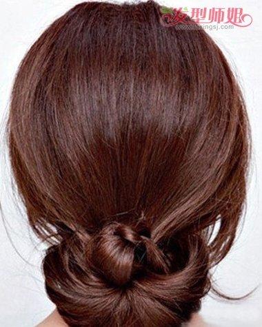 办公室气质盘发发型步骤 韩式夏天盘发发型图片