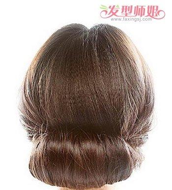 魅力盘头发型步骤图片 直发盘发发型扎法图解