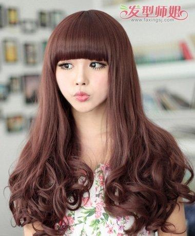 发橱发型集锦齐腰梨花 水瓶座女生适合的梨花烫发型图片