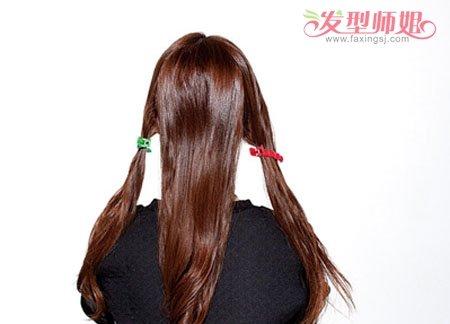 头型设计女人无刘海清新马尾 无刘海头顶编发马尾