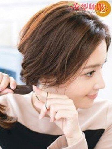 中年发型盘发扎法图解 夏季发型盘头中年发型(2)图片