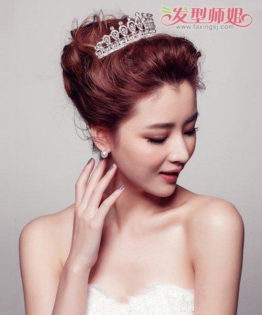 菱形脸新娘盘发造型 新娘如何盘头发