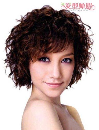 刘海应该烫做成成小发型卷后刘海烫发啥男生螺旋蛋卷长发中图片