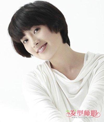 女人整洁平刘海超清新短发发型