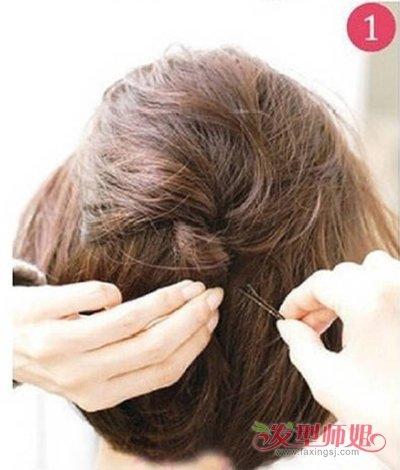 短发的短发盘盘发女孩发型_女孩发型图片什么脸细长适合图片