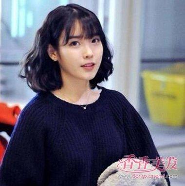 李智恩iu轻薄刘海蛋卷头短发发型