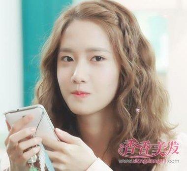 韩国泡面头发型图片_蛋卷头发型图片中长发图片