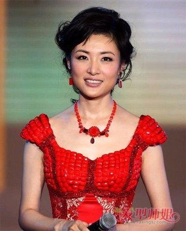 春晚女主持人用过的发型 最正派当数盘发(4)图片