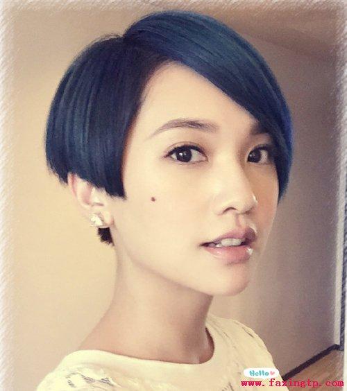 甜心美女杨丞琳短发发型图片大全图片